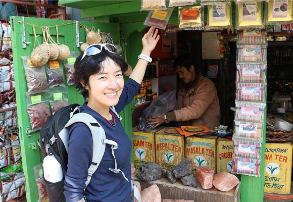 遠征地ネパールにて。