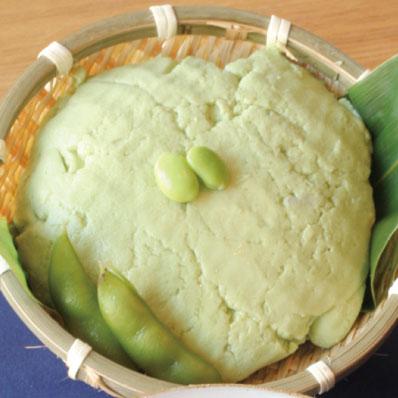 豆乳から作る枝豆どうふ