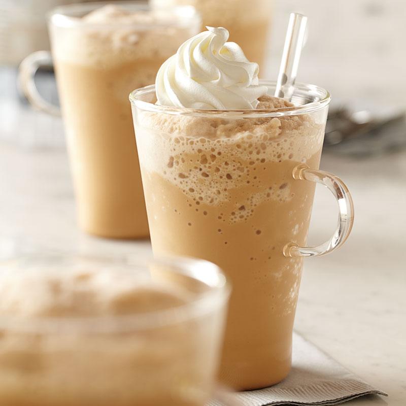 穀物コーヒーのモカフラッペ