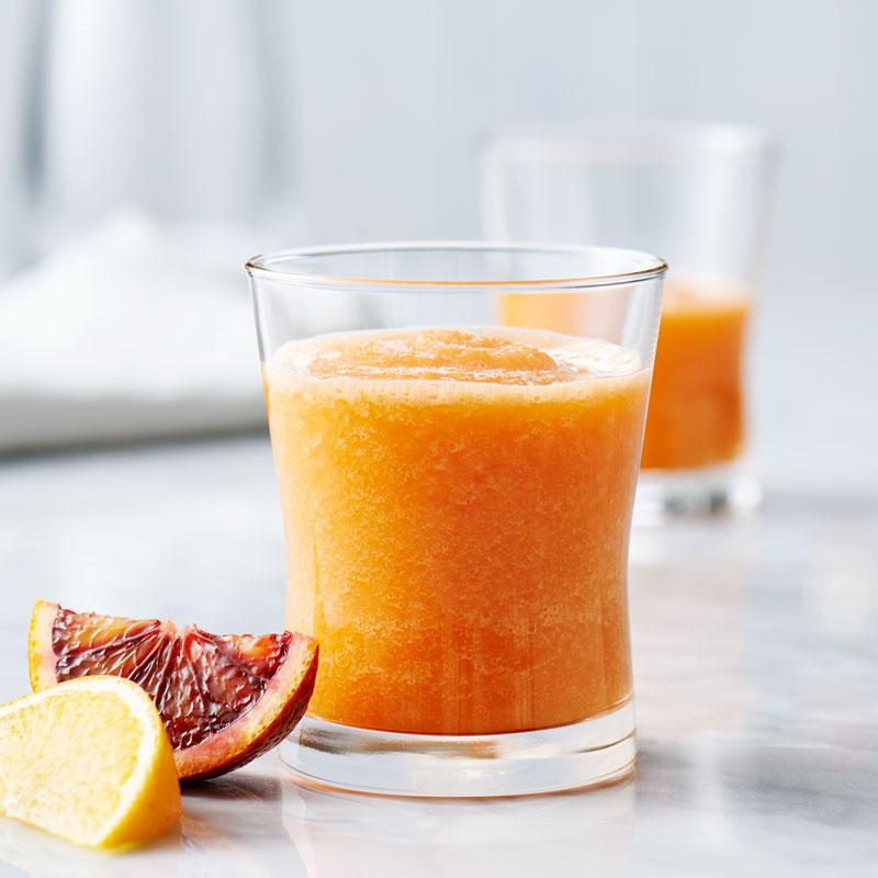 人参とオレンジのジュース