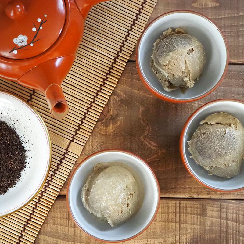 ほうじ茶のアイス