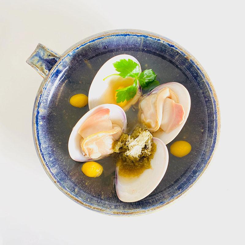 ハマグリ和風スープ