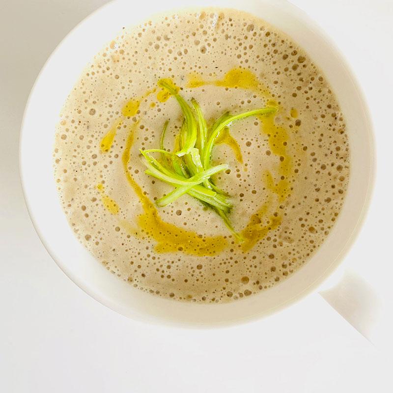 ネギと生姜のポタージュスープ