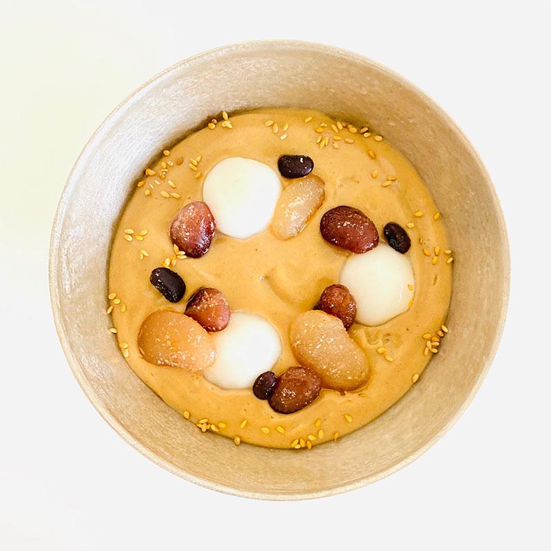 甘納豆とさつま芋のお汁粉