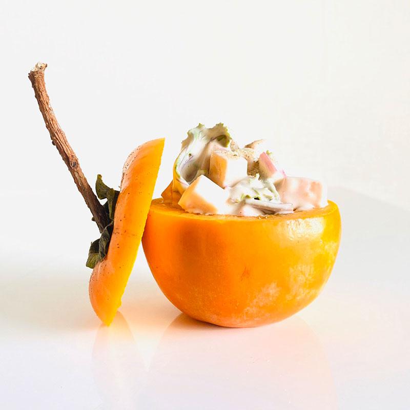 柿と胡桃の白和え