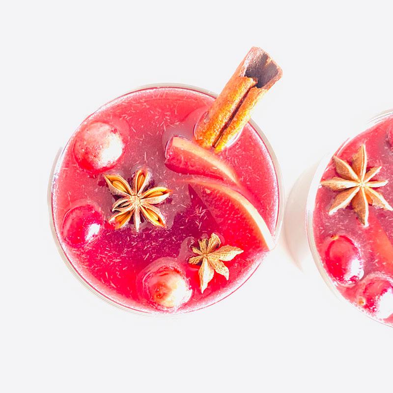 林檎とクランベリーのグロッグ