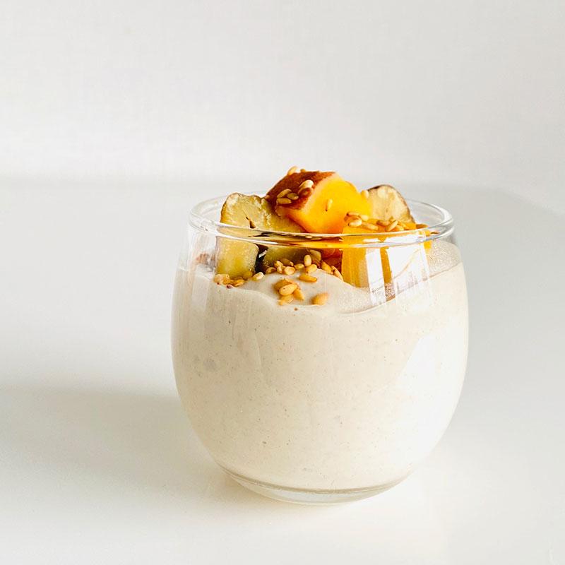 安納芋と栗の胡桃白和え