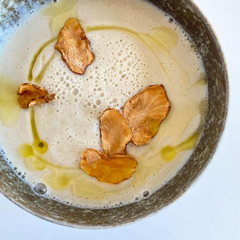 紫菊芋のポタージュスープ