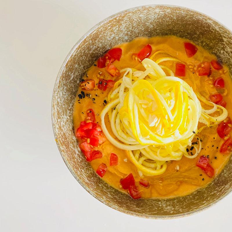トマトスープのRAW冷製パスタ