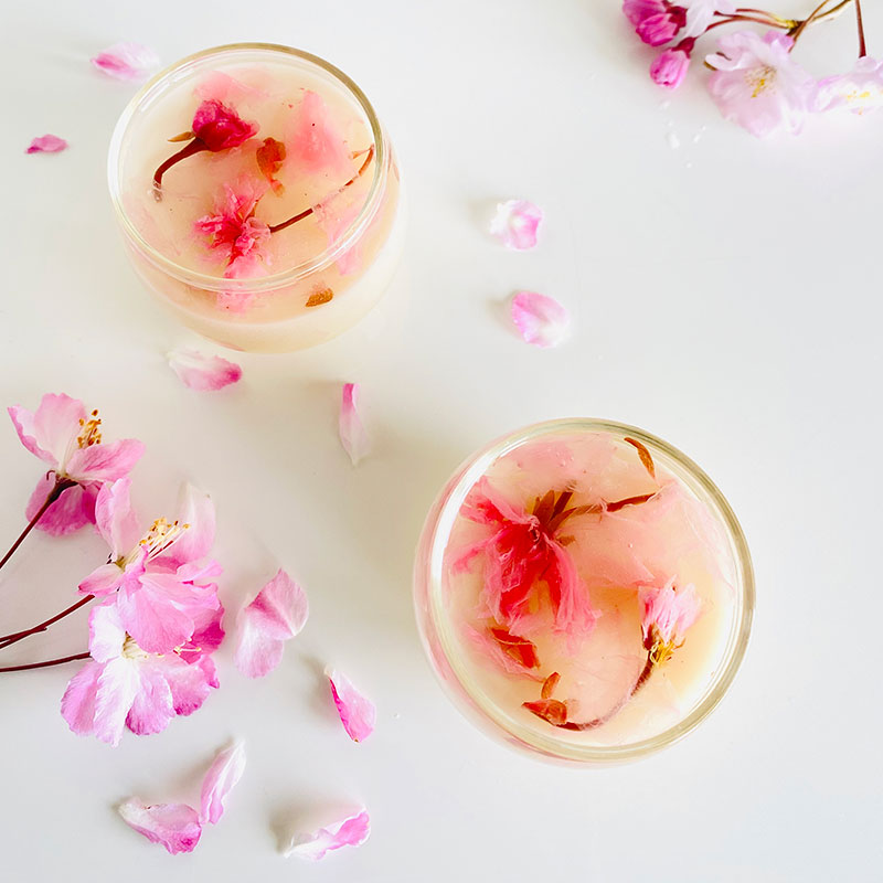 桜の杏仁豆腐