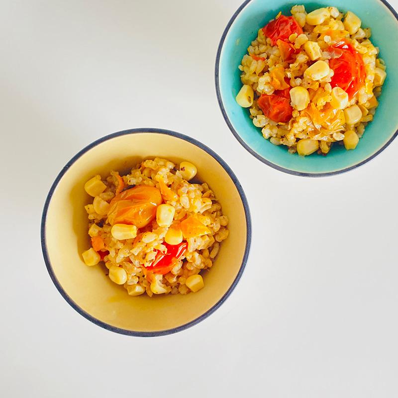 夏野菜の炊き込みご飯