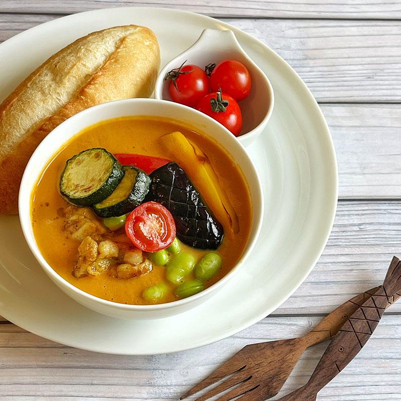 夏野菜カレースープ