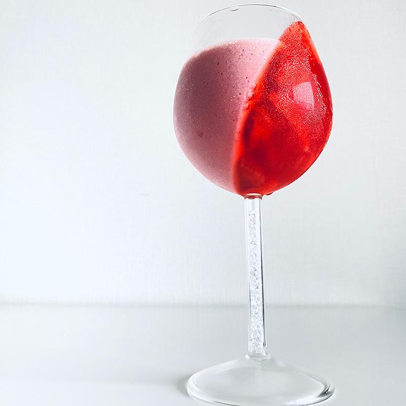 vegan苺ミルクと苺ゼリー