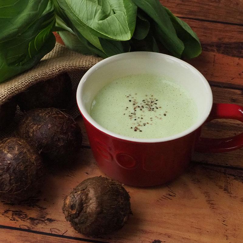 ちんげん菜と里芋のポタージュスープ
